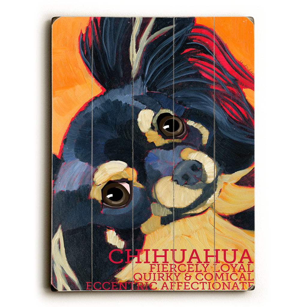 Chihuahua IV Wood Sign