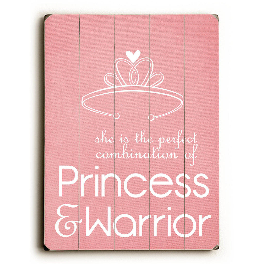 Princess & Warrior Wood Sign