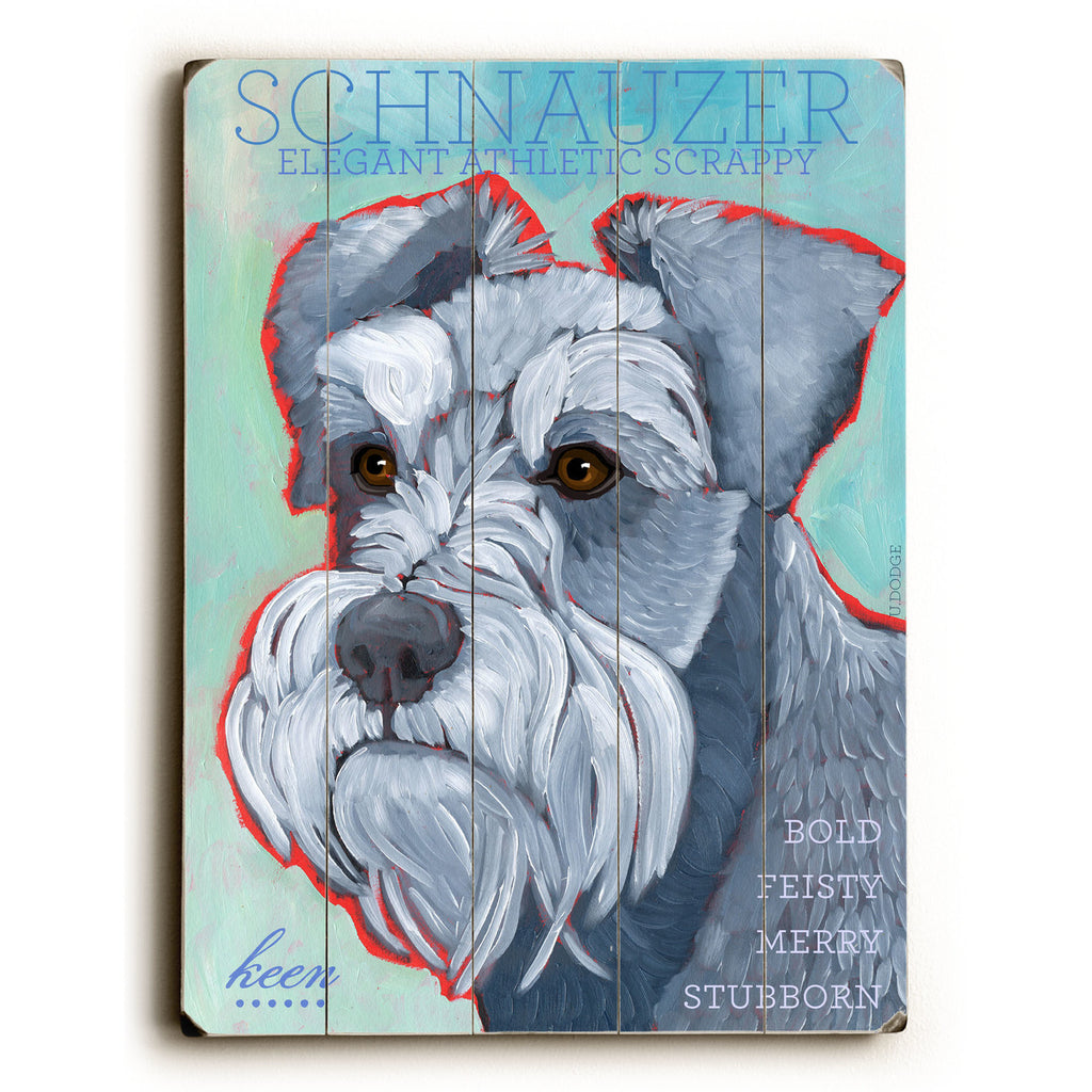 Schnauzer Wood Sign