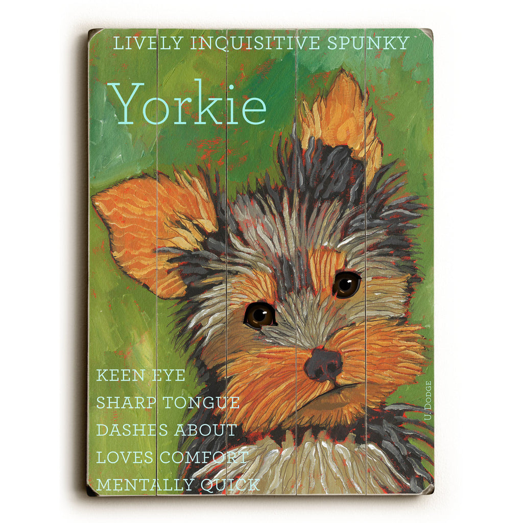 Yorkie Wood Sign