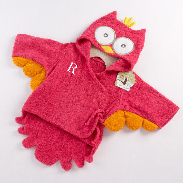 """My Little Night Owl"" Hooded Terry Spa Robe"
