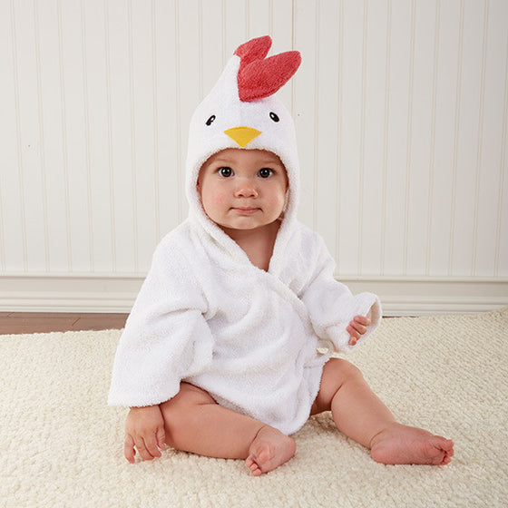 Barnyard Bathtime Chicken Hooded Spa Robe