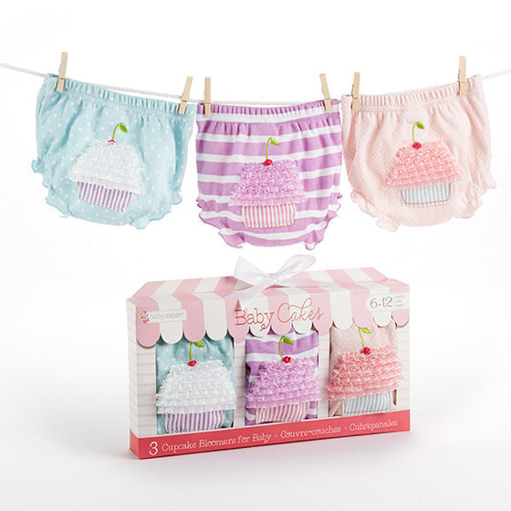 "Baby Cakes"" Set of Three Cupcake Bloomers"