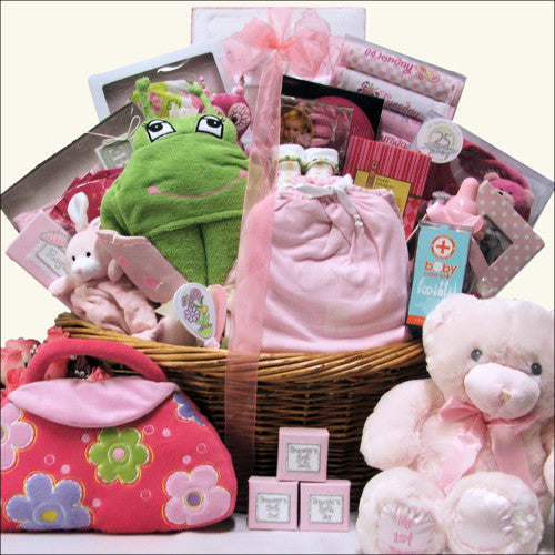 Grand Welcome Baby Girl Baby Gift Basket