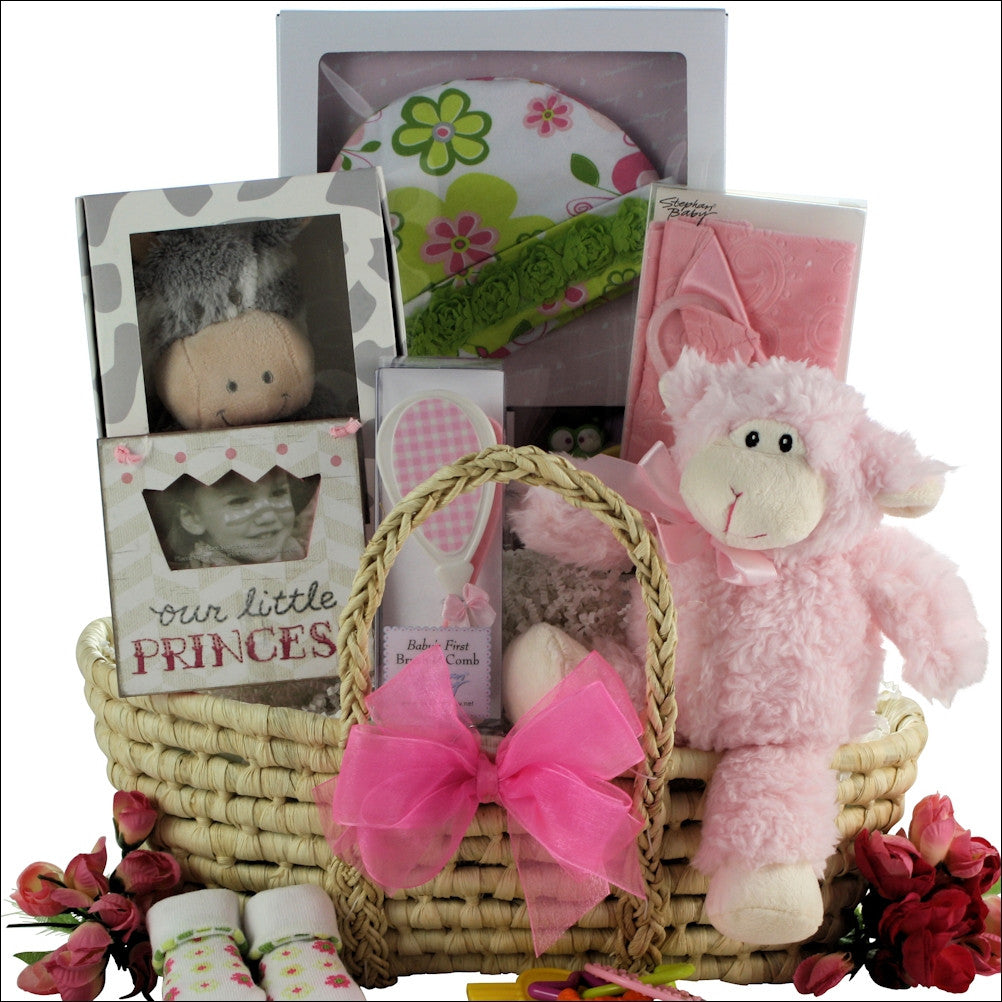 Beautiful Baby Girl Gift Basket - Premier Home & Gifts
