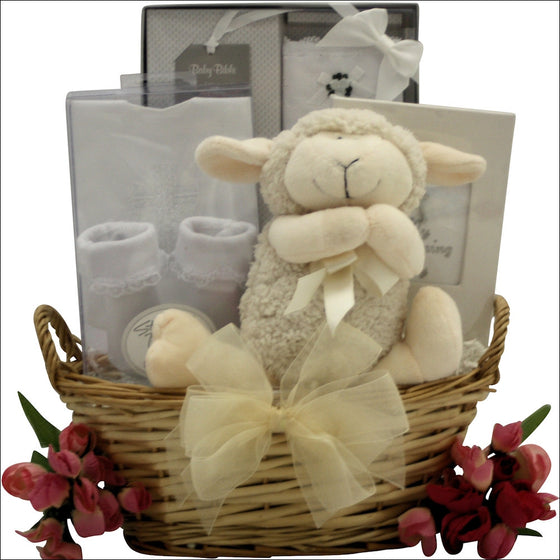 Bless This Baby Girl Christening Baptism Gift Basket - Premier Home & Gifts