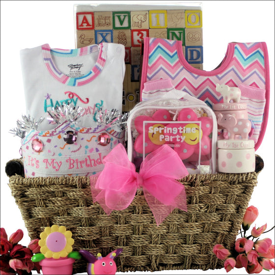 Baby's 1st Birthday Basket - Girl | Premier Home & Gifts