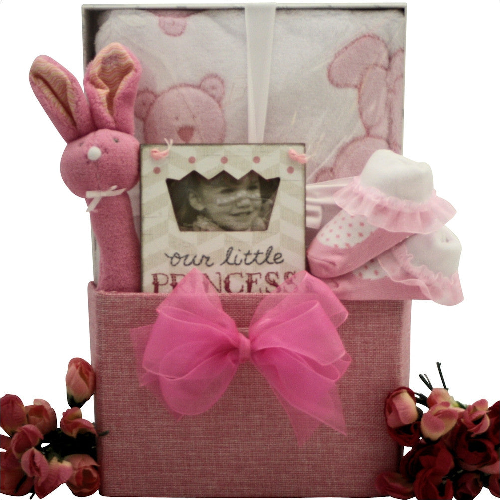 It's A Girl Baby Girl Gift Basket - Premier Home & Gifts