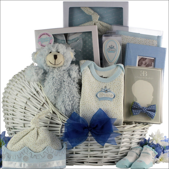 Little Prince Baby Boy Baby Gift Basket - Premier Home & Gifts