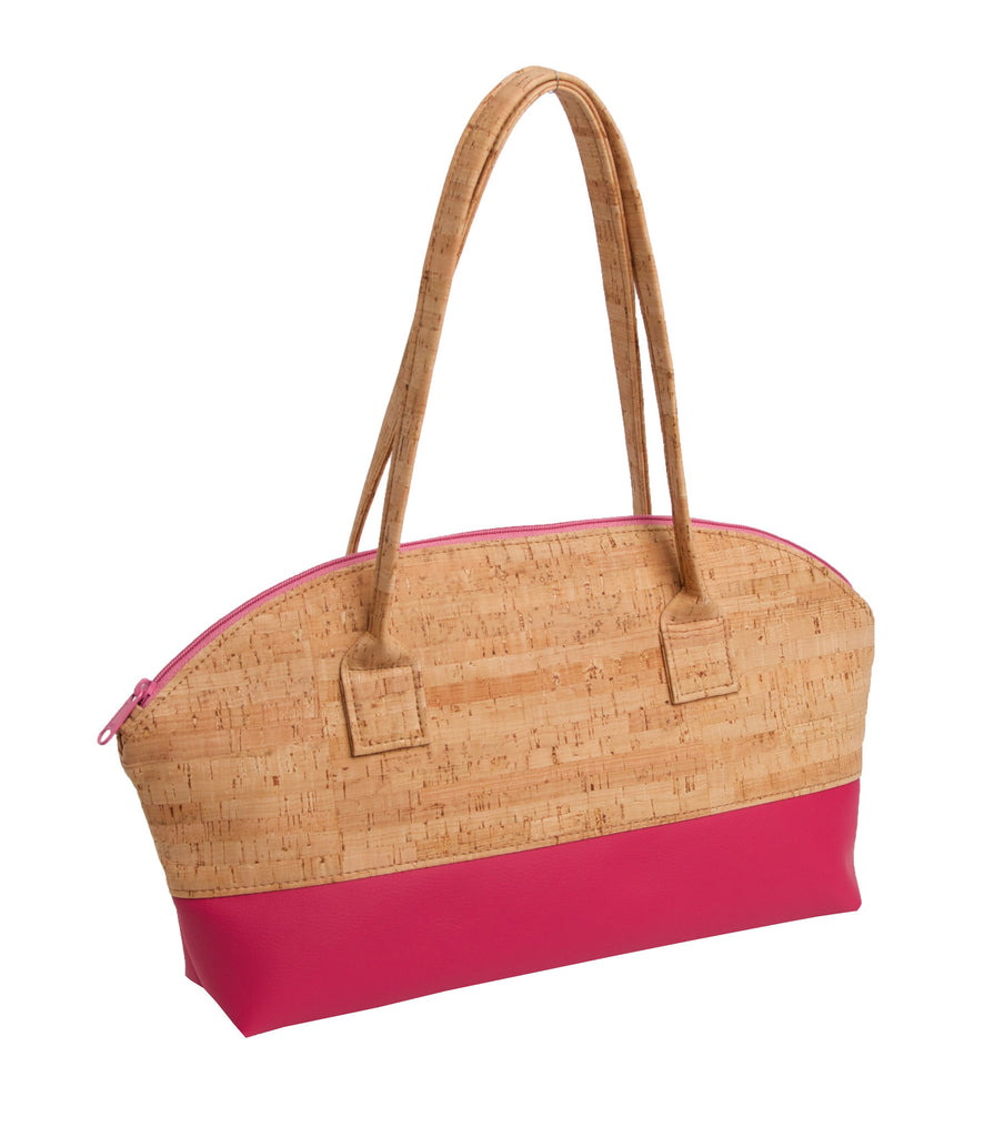 Unique Cork & Leather Rounded Handbag - Premier Home & Gifts