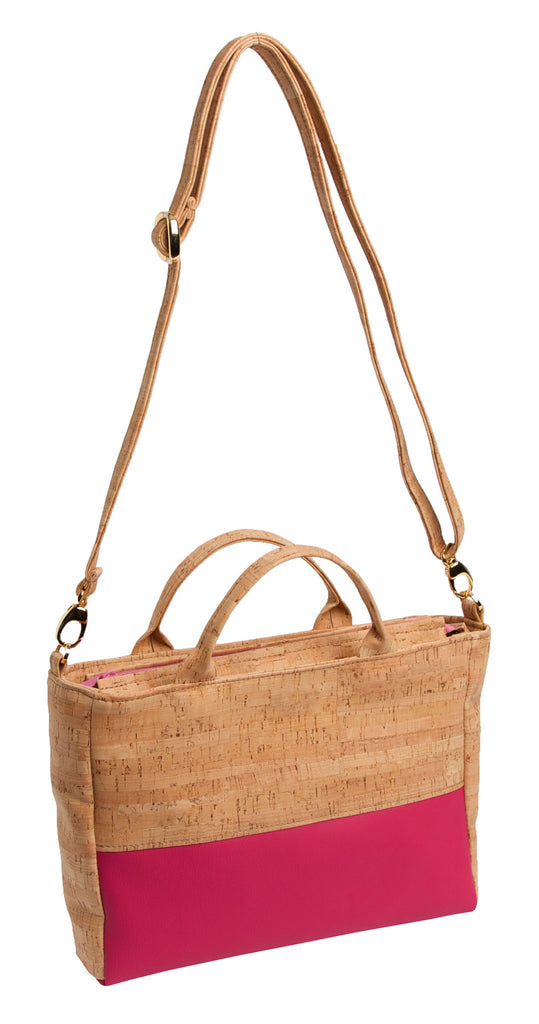 Versatile Cork & Leather Handbag - Premier Home & Gifts