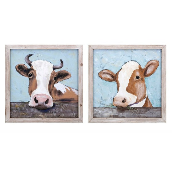 Bovine Beauty Wall Art - Set of 2 | Premier Home & Gifts