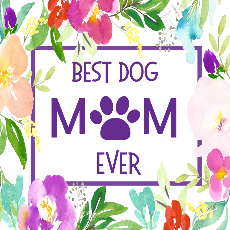 Best Dog Mom Ever Floral Personalized Candle - Pet Gifts - Premier Home & Gifts