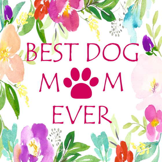 Best Dog Mom Ever Floral Personalized Candle - Premier Home & Gifts