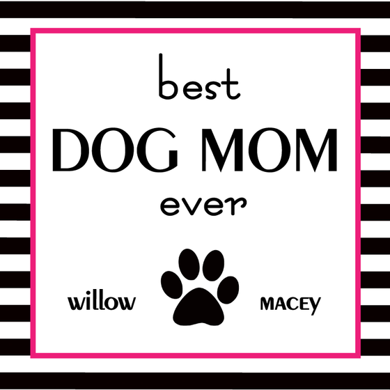 Best Dog Mom Ever Stripes Personalized Candle