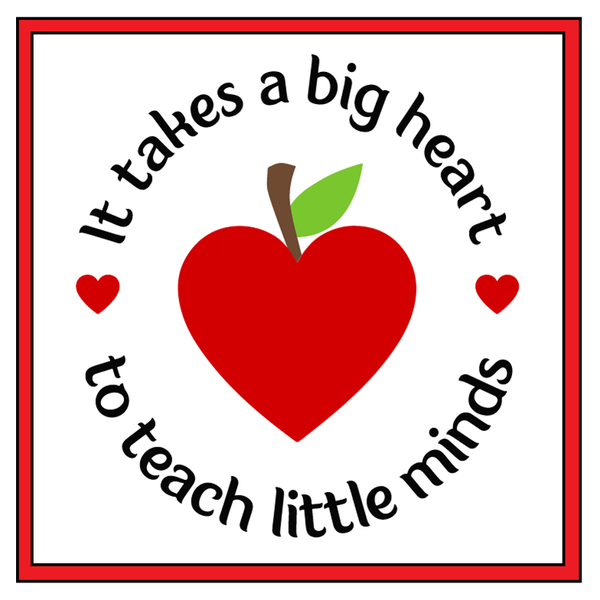 big heart teacher personalized candle