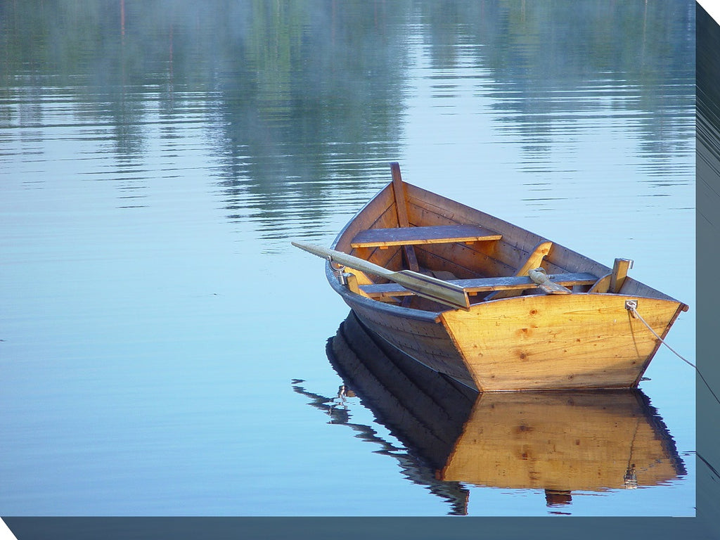 Boat Reflection Outdoor Canvas Art - Premier Home & Gifts