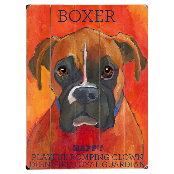 Boxer Wood Sign