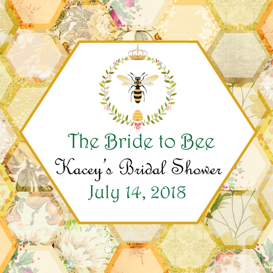 Bride to Bee Bridal Shower Personalized Candle