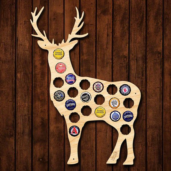 Deer Beer Cap Sign - Cabin Gifts - Lake House Gifts - Hunting