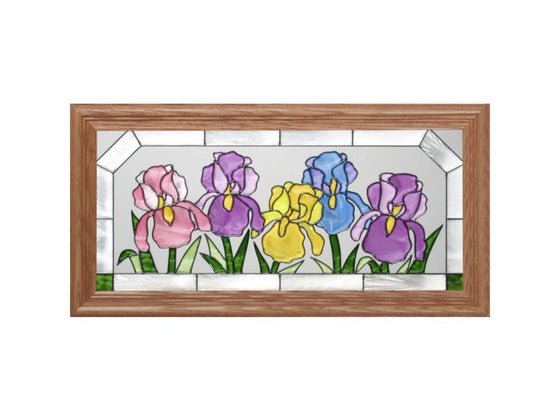 Iris Hand Painted Stained Glass Art - Premier Home & Gifts