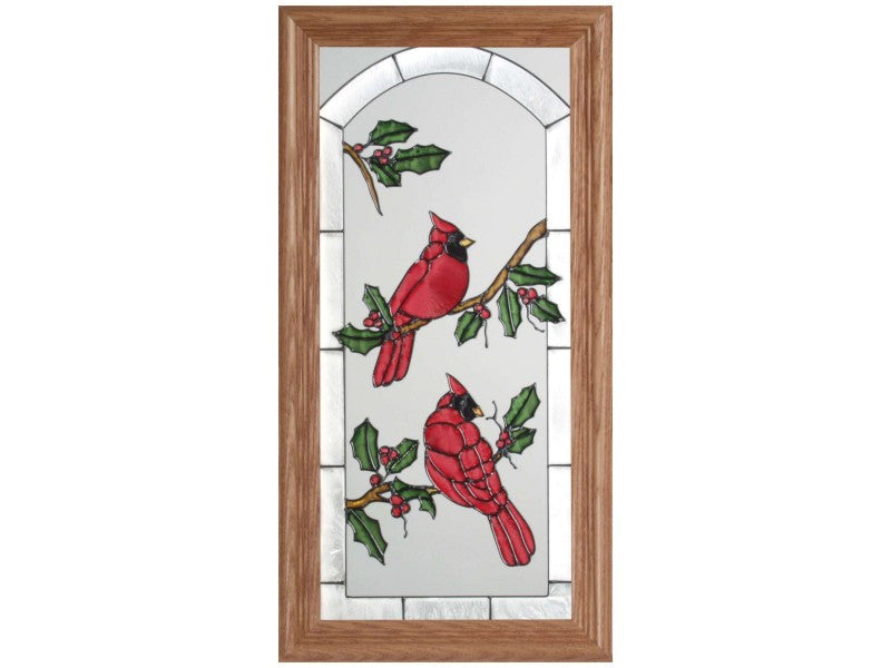 Cardinals Stained Glass Art