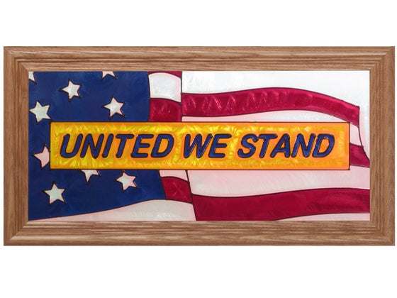 United We Stand Hand Painted Stained Glass Art