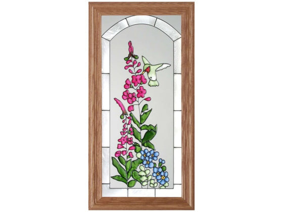 Hummingbird Blossoms Hand Painted Stained Glass Art - Premier Home & Gifts