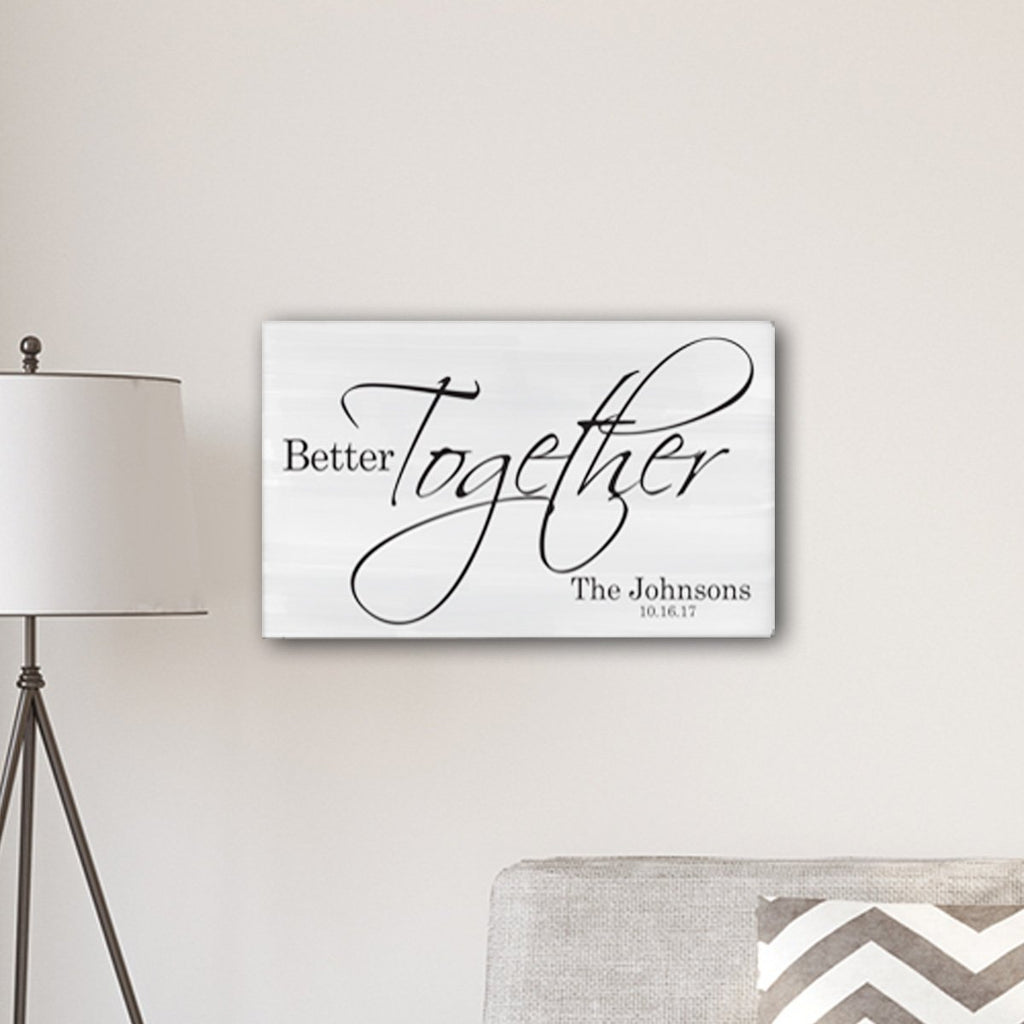Canvas Sign Personalized Gifts - Better Together - Wedding Gifts
