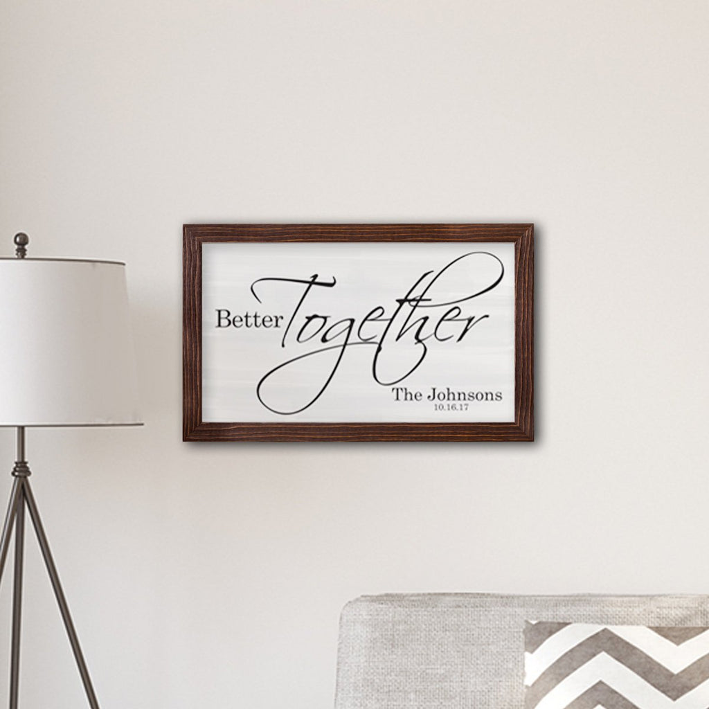 Canvas Sign Personalized Gifts - Better Together