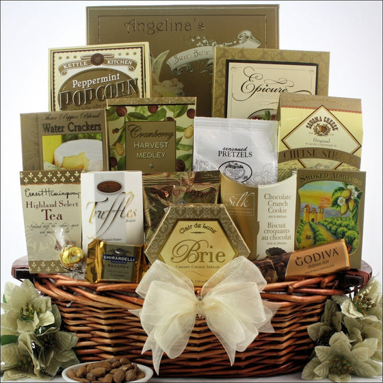 Classic Holiday Elegance Gourmet Christmas Gift Basket