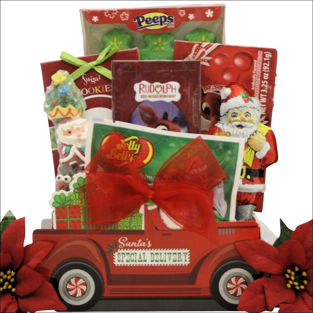 Santa Children's Holiday Christmas Gift Basket