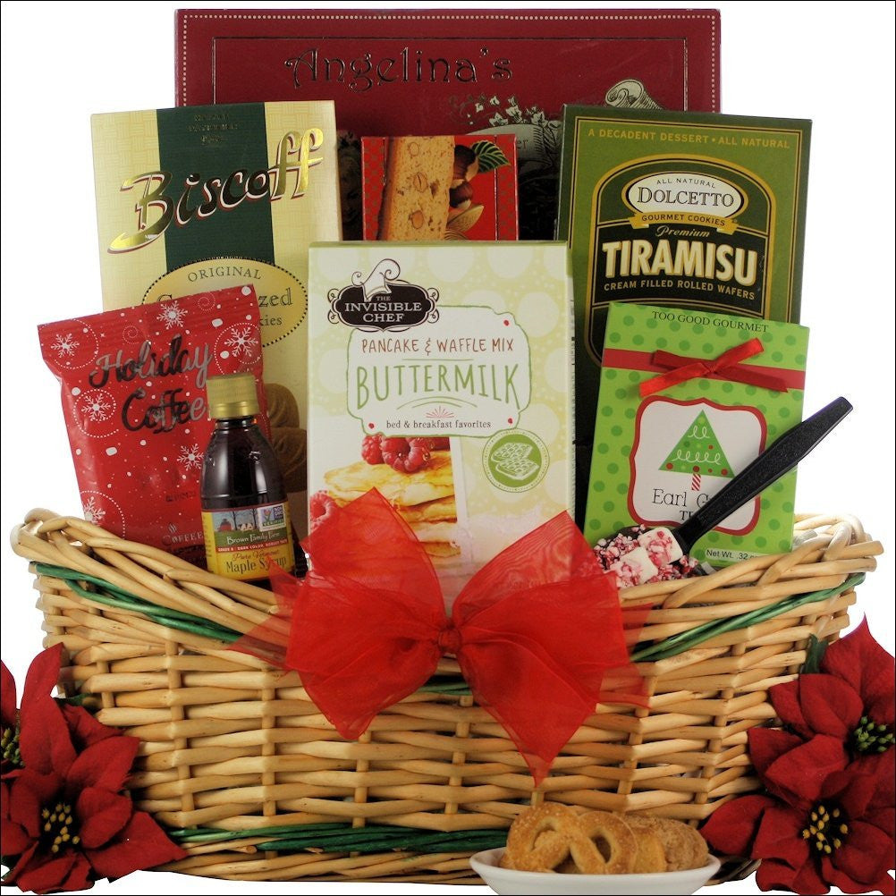 Jolly Christmas Morning: Breakfast Holiday Gift Basket - Premier Home & Gifts