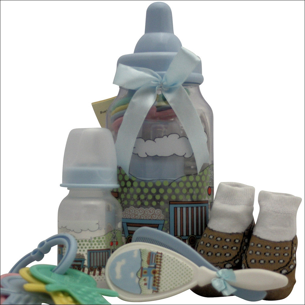 Congratulations Baby Boy Baby Gift Basket - Premier Home & Gifts