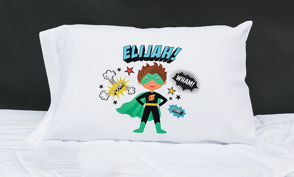 Superhero Boy Pillowcases - Personalized - Premier Home & Gifts