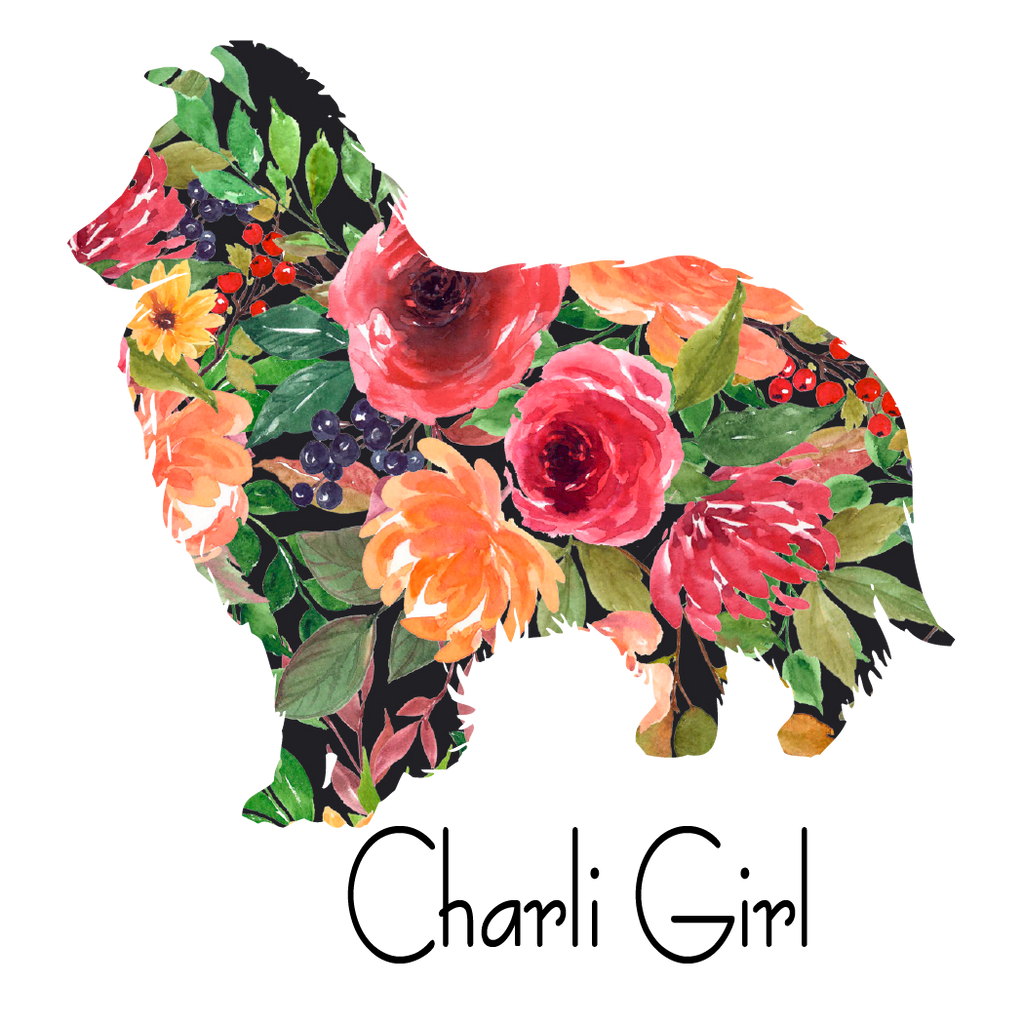 Floral Dog Breed Women's T-Shirt - Personalized