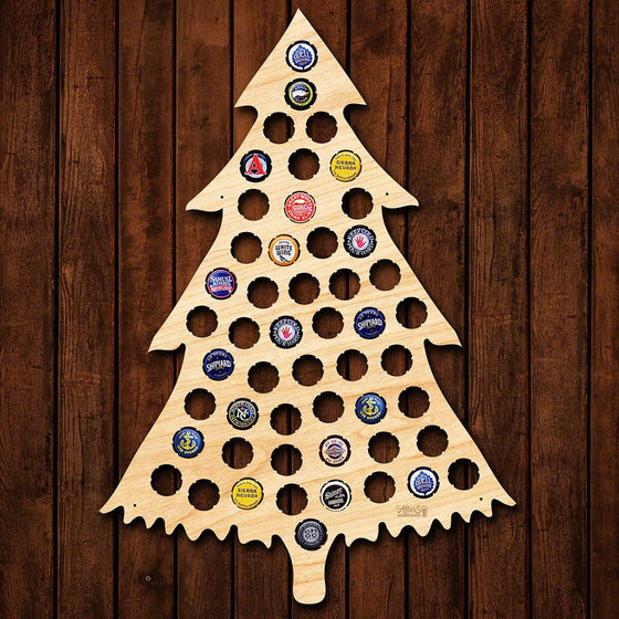 Christmas Tree Beer Cap Sign - Premier Home & Gifts