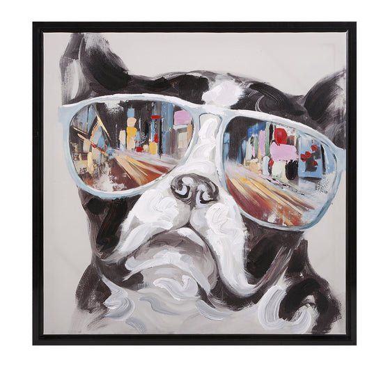 City Shades Dog Canvas
