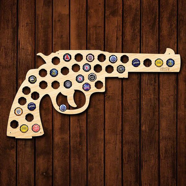 Classic Revolver Beer Cap Sign - Premier Home & Gifts
