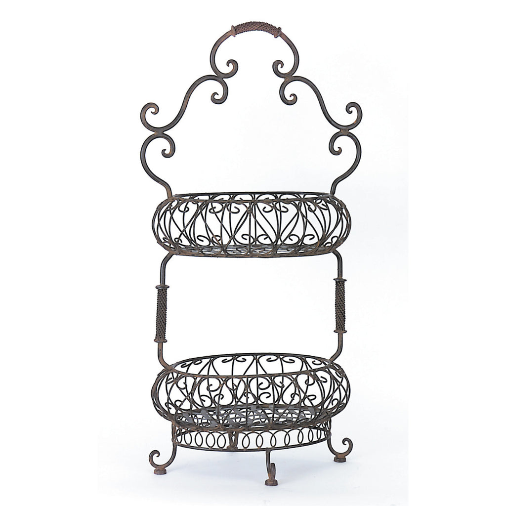 Alene Iron Basket - Two Tier