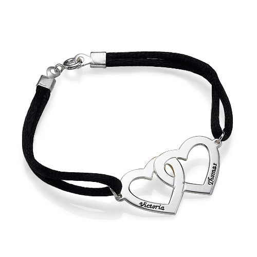 Connected Hearts Bracelet - 11 Colors Available
