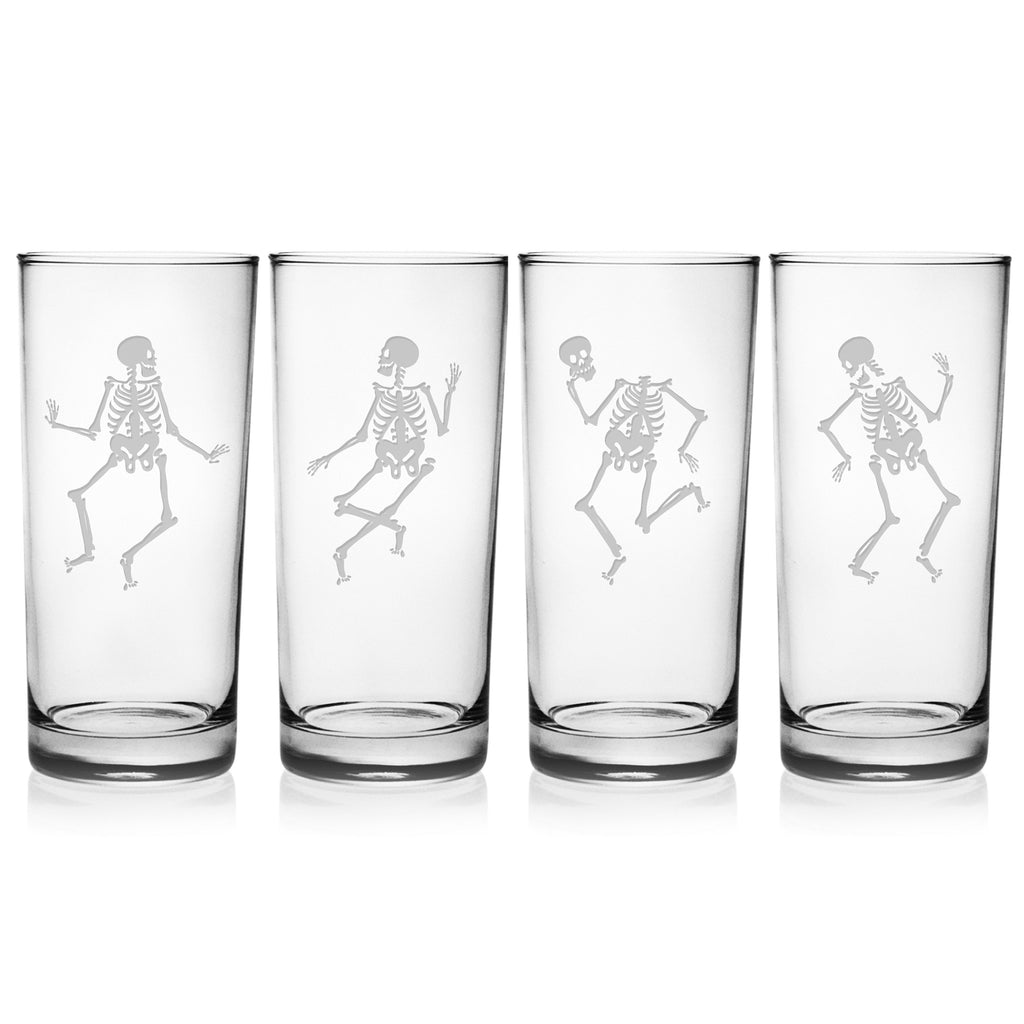 Dance of the Dead Highball Glasses ~ Set of 4 | Premier Home & Gifts