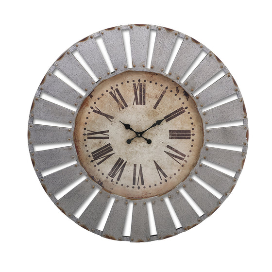 Fiore Galvanized Wall Clock