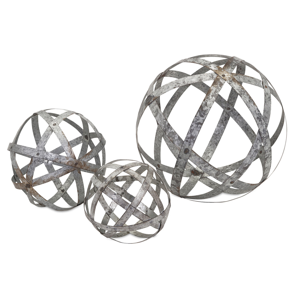 Galvanized Decorative Spheres