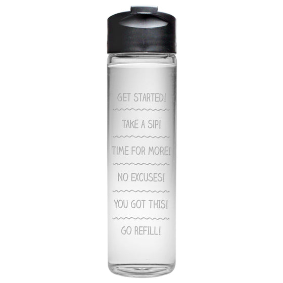 Drink Schedule Travel Bottle - Fitness Gifts