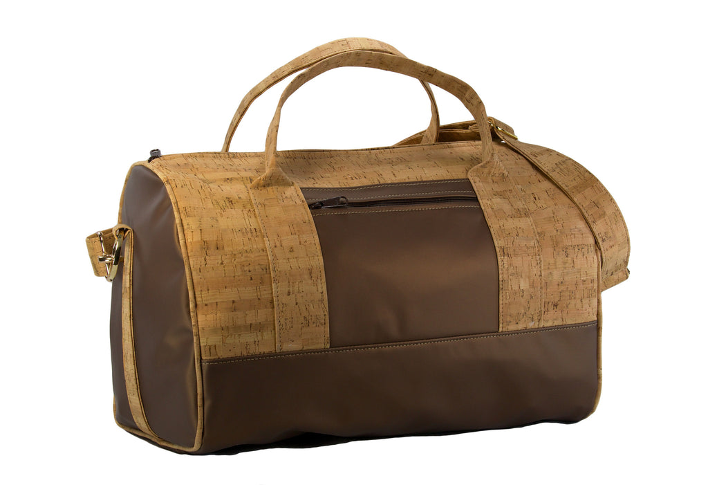 Sophisticated Cork & Leather Duffel Bag - Premier Home & Gifts