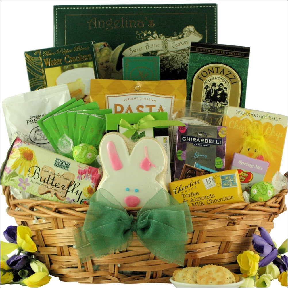 Easter wishes gourmet easter gift basket large grand easter wishes gourmet easter gift basket negle Images