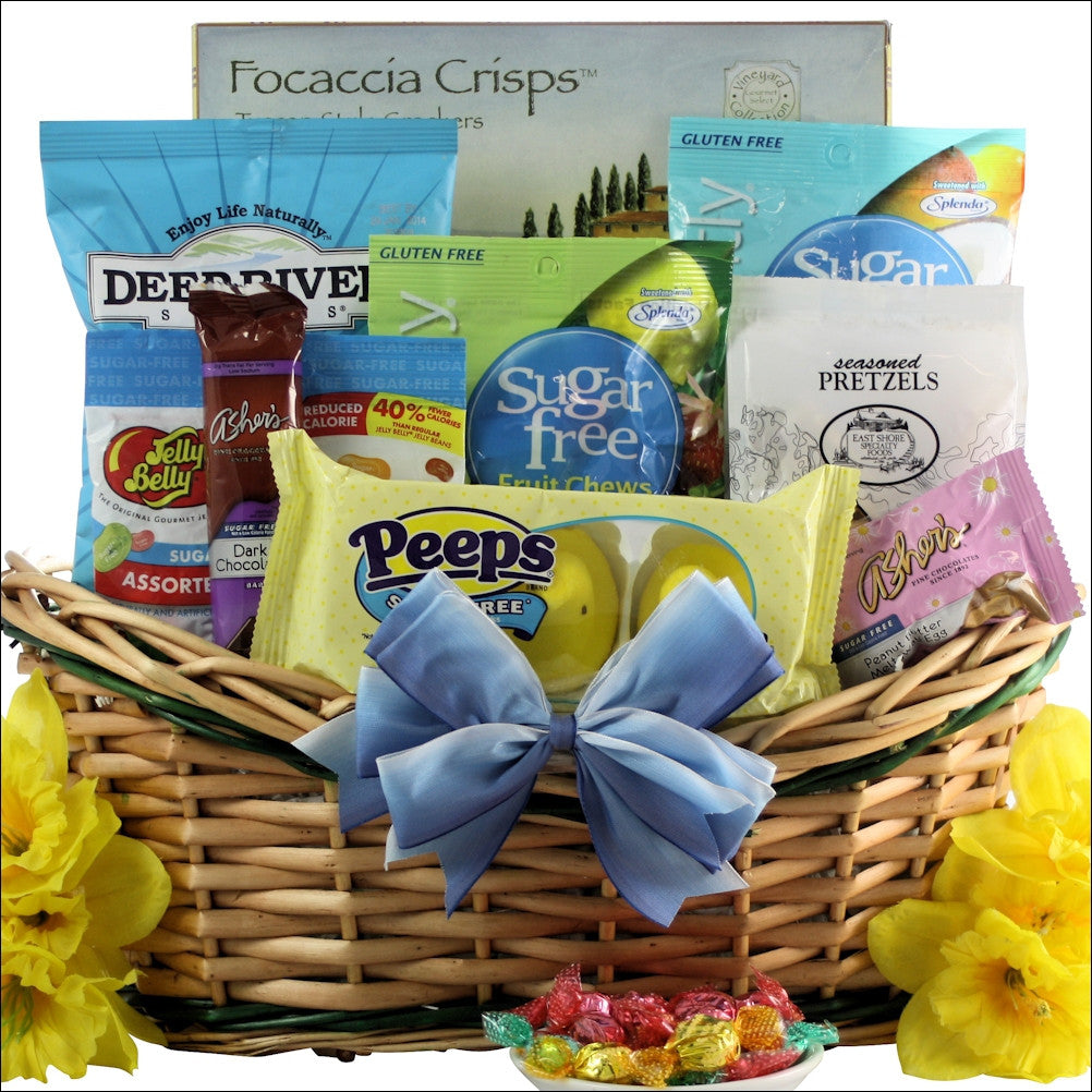 Easter sugar free gourmet easter gift basket happy easter sugar free gourmet easter gift basket negle Gallery