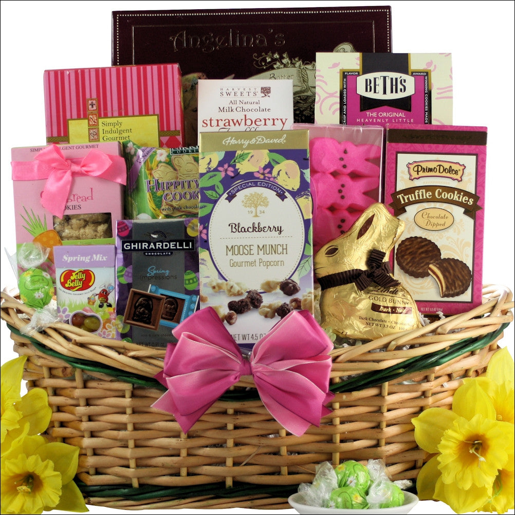 Easter chocolate and sweets easter gift basket divine easter chocolate and sweets easter gift basket negle Images