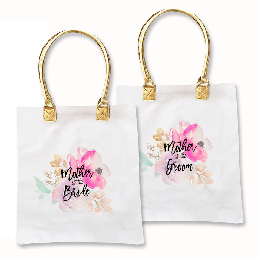 Water Color Bridal Tote Bags - Premier Party Favors Bridal Gifts Bridesmaid Gifts